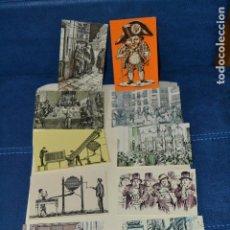 Postales: POSTALES DE GRABADOS SOBRE LA LOTERIA. Lote 126812659