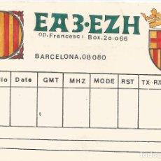 Cartoline: POSTAL PUBLICITARIA LA RADIO (EA3.EZH) BARCELONA 08080. Lote 128086347