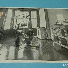 Postales: TARJETA POSTAL A . SOLE PALOU. MATERIAL MÉDICO DENTISTA. DÍPTICO. 1935. Lote 128464743