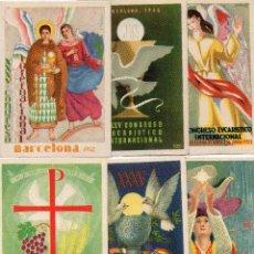 Postales: 6 POSTALES XXXV CONGRESO EUCARISTICO INTERNACIONAL, BARCELONA 1952. Lote 128768735