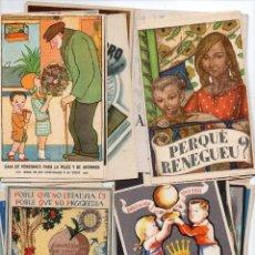 Postales: 22 TARGETA POSTAL, DE CAJA DE PENSIONES PARA LA VEJEZ 1954. Lote 128772583