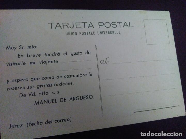 Postales: SUCESOR MANUEL DE ARGUESO. VINOS, COÑACS, CHAMPAGNE. GUTIÉRREZ HERMANOS. JEREZ - Foto 2 - 128813039