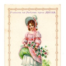 Postales: SEVILLA.- TARJETA POSTAL PUBLICITARIA. PERFUMES MARCA ANFORA. . Lote 129507371