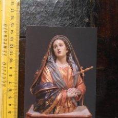 Postales: POSTAL RELIGIOSA SEMANA SANTA - ED. COLECCIONISTAS - VIRGEN LA DOLOROSA BELLUGA DE MURCIA. Lote 129973087