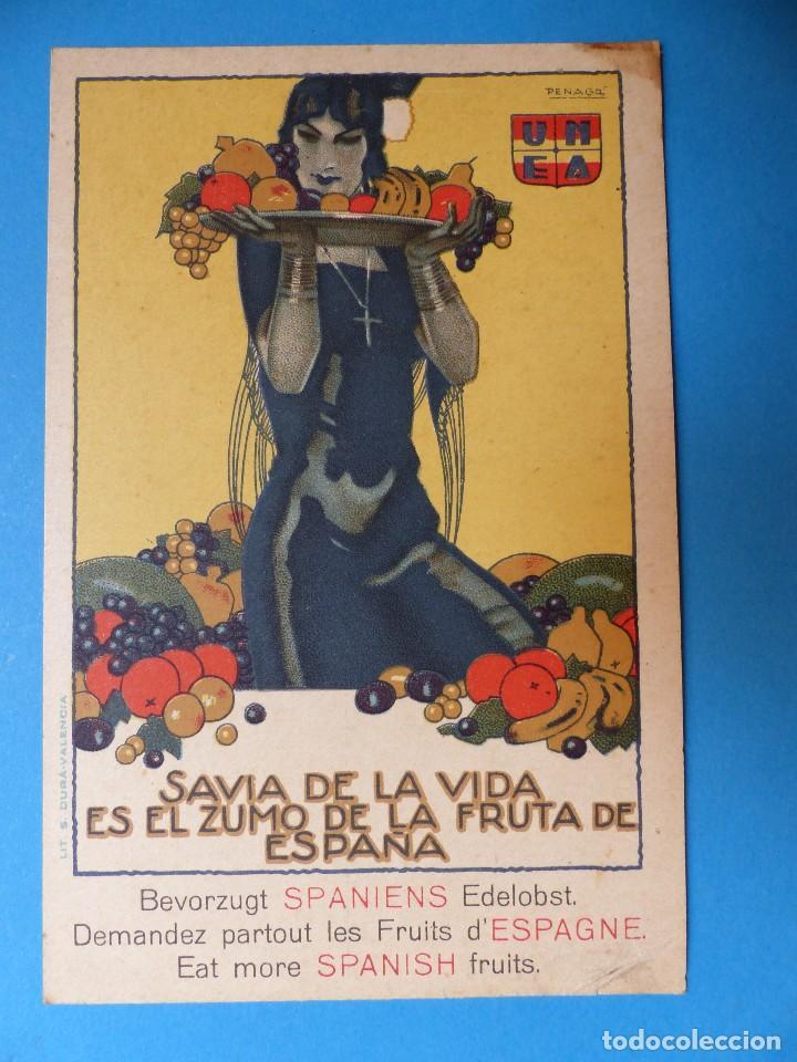 Postales: 3 BONITAS POSTALES PUBLICITARIAS DE FRUTA - MORELL, PENAGOS - Foto 2 - 130425422