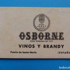 Postales: OSBORNE - 10 POSTALES - VINOS Y BRANDY, PUERO DE SANTA MARIA, CADIZ - XERES, JEREZ, SHERRY. Lote 130786540