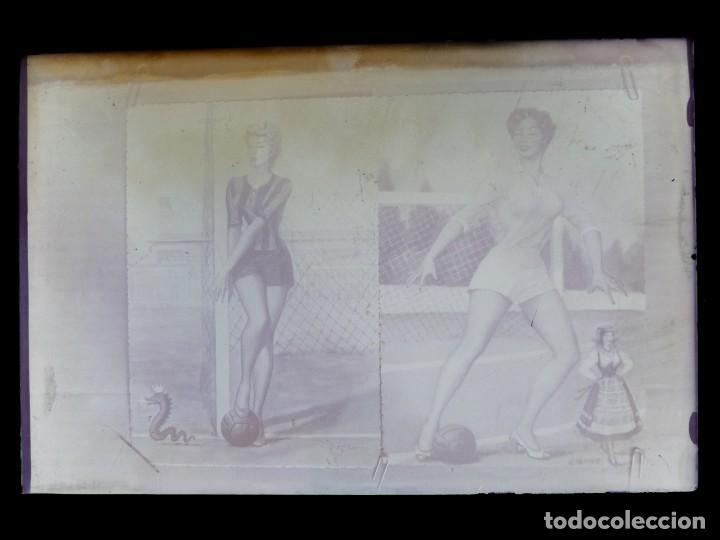 Postales: DIBUJOS CHICAS FUTBOLISTAS FUTBOL - 8 CLICHES ORIGINALES - NEGATIVOS EN CRISTAL - EDICIONES ARRIBAS - Foto 13 - 131355782