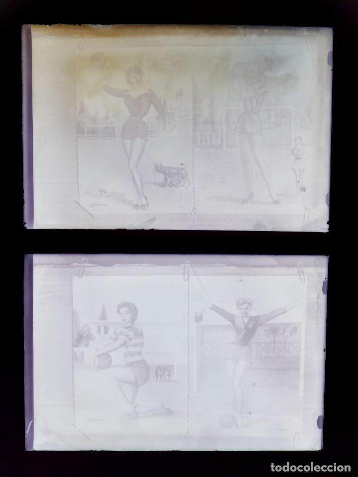 Postales: DIBUJOS CHICAS FUTBOLISTAS FUTBOL - 8 CLICHES ORIGINALES - NEGATIVOS EN CRISTAL - EDICIONES ARRIBAS - Foto 15 - 131355782