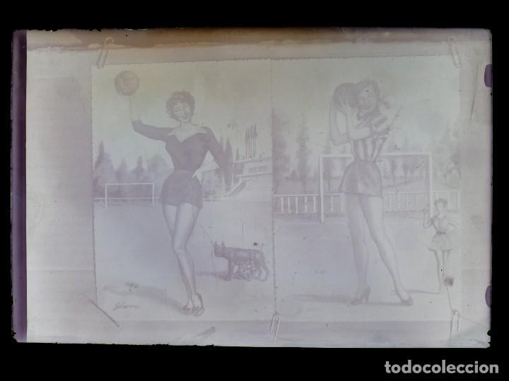 Postales: DIBUJOS CHICAS FUTBOLISTAS FUTBOL - 8 CLICHES ORIGINALES - NEGATIVOS EN CRISTAL - EDICIONES ARRIBAS - Foto 19 - 131355782