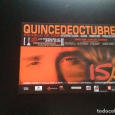 Postales: POSTAL PUBLICIDAD QUINCE DE OCTUBRE, ESCUELA DE CINE BARCELONA: GUIÓN, DIRECCIÓN, PRODUCCIÓN.... Lote 132024054