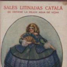 Postales: POSTAL SALES LITINADAS CATALÀ - GRAN LICOR ORIENTAL - AGUA DE VICHY - NOTA DE PRECIOS. Lote 132592050