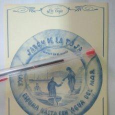 Postales: ANTIGUA POSTAL PUBLICITARIA JABON DE LA TOJA 1912-MANANTIALES ORIVE.CULLERO-LA CORUÑA. Lote 132977153