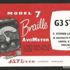 Postales: RADIOAFICIONADO - AVOMETER MODEL 7 BRAILLE - INGLATERRA 1964. Lote 133559434