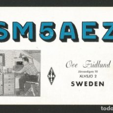 Postales: RADIOAFICIONADO - SUECIA 1961. Lote 133559642
