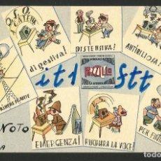 Postales: RADIOAFICIONADO - AGUA MINERAL NATURAL POZZILLO SICILIA - ITALIA 1964. Lote 133559770