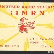 Postales: RADIOAFICIONADO - NAPOLES - ITALIA 1964. Lote 133560078