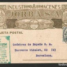 Postales: INDUSTRIAS Y ALMACENES JORBA - MANRESA 1931 - P26475. Lote 133574830