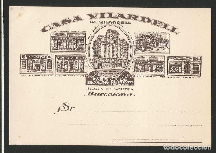 CASA VILARDELL - ALMACENES - BARCELONA- FÁBRICA DE GENEROS DE PUNTO CAMISERÍA Y CORBATERÍA - P26475 (Postales - Postales Temáticas - Publicitarias)