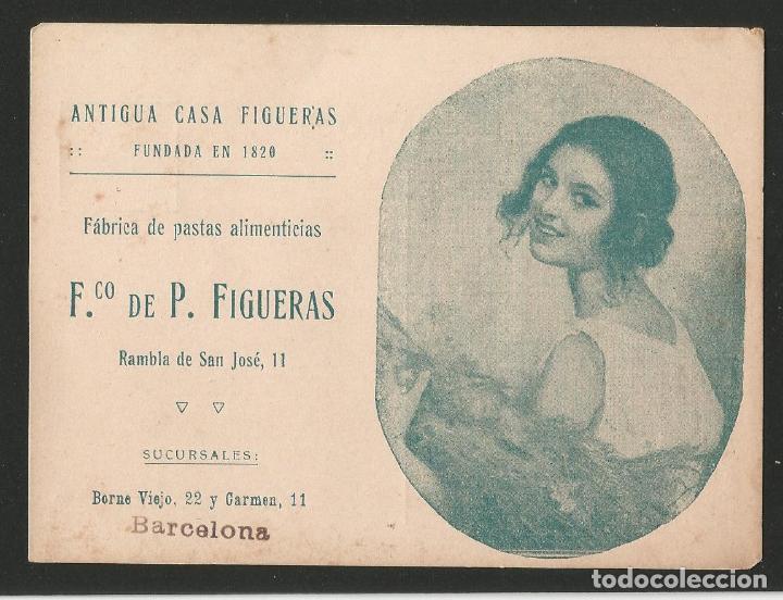 ANTIGUA CASA FIGUERAS - FÁBRICA DE PASTAS ALIMENTICIAS - BARCELONA - P26475 (Postales - Postales Temáticas - Publicitarias)