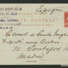 Postales: SOCIETÉ FRANÇAISE - MINAS DE LA SIERRA DE BAZA - GRANADA - ENTERO POSTAL - P26475. Lote 133586730