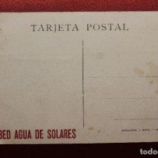 Postales: POSTAL PUBLICIDAD AGUA DE SOLARES. Lote 134177270