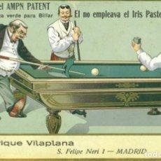 Postales: BILLAR TIZA PARA LOS TACOS. ENRIQUE VILAPLANA. MADRID. HACIA 1920. FALTA DE ORTOGRAFÍA. RARA.. Lote 134210590