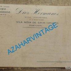 Postales: TARJETA POSTAL PUBLICITARIA DE VINOS DE OPORTO, DIEZ HERMANOS, RARA. Lote 135142102