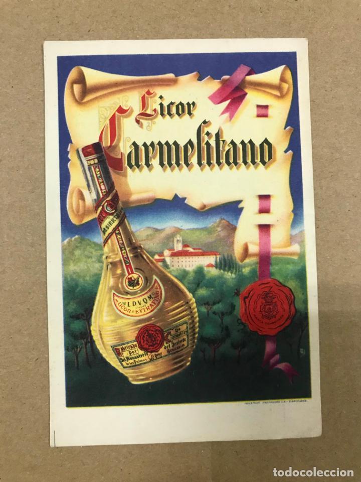 TARJETA POSTAL PUBLICIDAD LICOR CARMELITANO BENICASIM CASTELLON, ORIGINAL (Postales - Postales Temáticas - Publicitarias)