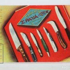 Postales: POSTAL PUBLICITARIA - CUCHILLERIA IPAYÁ - PAYÁ HNOS - IBI, ALICANTE - XII FERIA INTL MUESTRAS, 1944. Lote 136545986