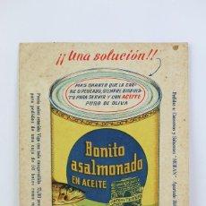 Postales: ANTIGUA TARJETA POSTAL PUBLICITARIA - CONSERVAS Y SALAZONES MORAN - ANGEL MORÁN GONZÁLEZ, VIGO. Lote 136595094