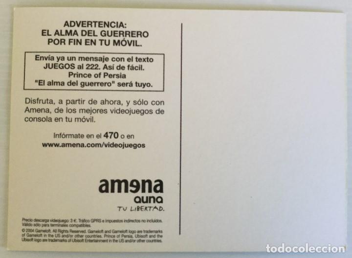 Postales: Postal publicitaria Amena Auna – Prince of Persia - Gameloft - Foto 4 - 137895670