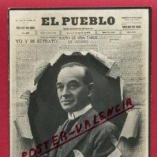 Postales: POSTAL PUBLICIDAD PERIODICO EL PUEBLO , VALENCIA , PERIODISTA AZZATI , AUTOGRAFO, ORIGINAL, P301. Lote 139193410