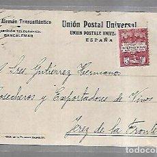 Postales: TARJETA POSTAL PUBLICITARIA. BANCO ALEMAN TRANSATLANTICO. BARCELONA. 1929. Lote 139256174
