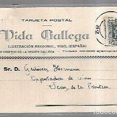 Postales: TARJETA POSTAL PUBLICITARIA. VIDA GALLEGA. ILUSTRACION REGIONAL. 1930. Lote 139256306