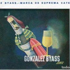 Postales: JEREZ- GONZALEZ BYASS-VINOS Y COÑACS 15 X 10 RARA. Lote 139781678