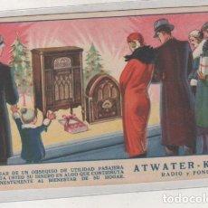 Postales - Atwater Kent radio y fono Postal con publicidad de Radio. Sin circular. - 140299166