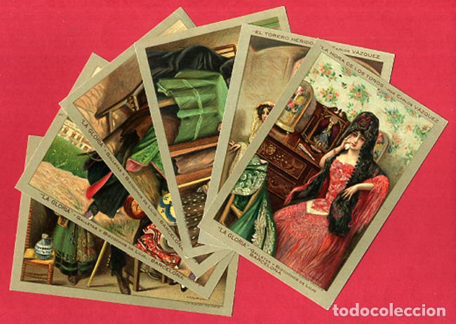 LOTE DE 6 POSTALES PUBLICITARIAS, GALLETAS Y BIZCOCHOS LA GLORIA, ORIGINALES . L6 (Postales - Postales Temáticas - Publicitarias)