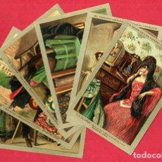 Postales: LOTE DE 6 POSTALES PUBLICITARIAS, GALLETAS Y BIZCOCHOS LA GLORIA, ORIGINALES . L6. Lote 140525810