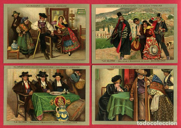Postales: LOTE DE 6 POSTALES PUBLICITARIAS, GALLETAS Y BIZCOCHOS LA GLORIA, ORIGINALES . L6 - Foto 3 - 140525810
