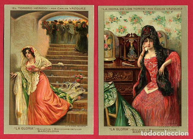 Postales: LOTE DE 6 POSTALES PUBLICITARIAS, GALLETAS Y BIZCOCHOS LA GLORIA, ORIGINALES . L6 - Foto 4 - 140525810