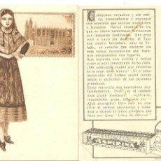 Postales: POSTAL-CROMO, PUBLICIDAD ASPIRINA BAYER, TRAJE TÍPICO BALEARES, 8X12, VER FOTO (ANVERSO Y REVERSO). Lote 141126246