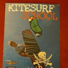 Postales: TARJETA PUBLICITARIA KITESURF SCHOOL, TARIFA, CÁDIZ.. Lote 142458190