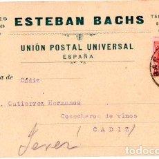 Postales: ESTEBAN BACHS. PAPELES DE TODAS CLASES. BARCELONA 1910.. Lote 142564738
