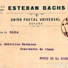 Postales: ESTEBAN BACHS. PAPELES DE TODAS CLASES. BARCELONA 1908.. Lote 142564918