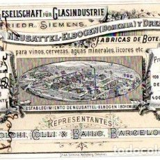 Postales: FABRICA DE BOTELLAS FOLCHI, COLLI & BAILO. BARCELONA, 1893. Lote 142565682