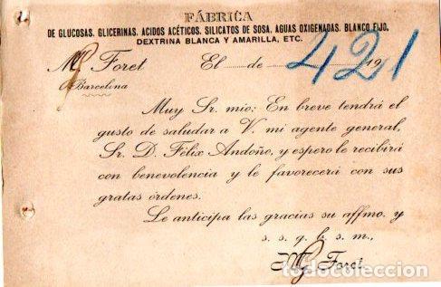 Postales: AGUA OXIGENADA NEUTRA MEDICINAL FORET. BARCELONA 1922. - Foto 2 - 142565866