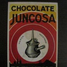 Postales: CHOCOLATES JUNCOSA-POSTAL ANTIGUA PUBLICITARIA-(54.818). Lote 142611898