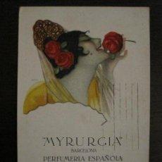 Postales: MYRURGIA BARCELONA PERFUMERIA ESPAÑOLA-POSTAL ANTIGUA PUBLICITARIA-(54.821). Lote 142612310