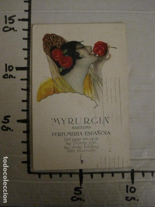 Postales: MYRURGIA BARCELONA PERFUMERIA ESPAÑOLA-POSTAL ANTIGUA PUBLICITARIA-(54.821) - Foto 6 - 142612310