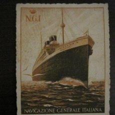Postales: AUGUSTUS-VIAJE INAUGURAL 11 NOVIEMBRE 1927-BARCELONA SUDAMERICA-POSTAL ANTIGUA PUBLICITARIA-(54.824). Lote 142612734